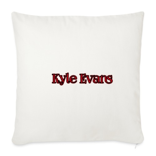 KYLE EVANS TEXT T-SHIRT - Sofa pillowcase 17,3'' x 17,3'' (45 x 45 cm)