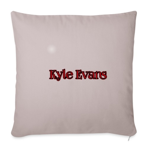 KYLE EVANS TEXT T-SHIRT - Sofa pillowcase 17,3'' x 17,3'' (45 x 45 cm)