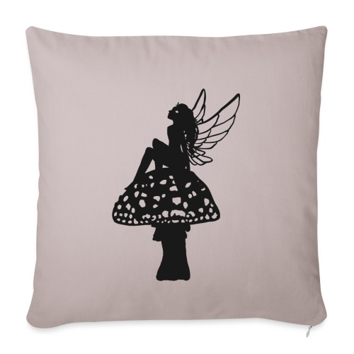 Silver fairy BLACK - Sofa pillowcase 17,3'' x 17,3'' (45 x 45 cm)