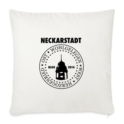 Neckarstadt Blog seit 2014 (Logo dunkel) - Sofakissenbezug 44 x 44 cm