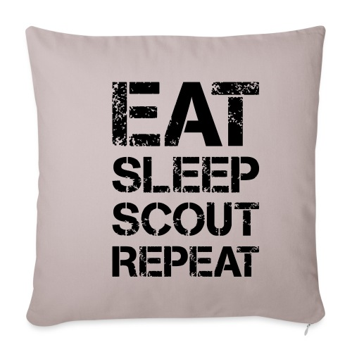 EAT SLEEP SCOUT REPEAT Kreide - Farbe frei wählbar - Sofakissenbezug 44 x 44 cm