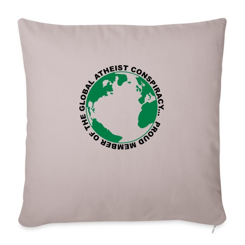 Global Atheist Conspiracy - Sofa pillowcase 17,3'' x 17,3'' (45 x 45 cm)