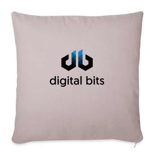 digitalbits Logo mit Schriftzug - Sofakissenbezug 44 x 44 cm