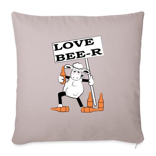 love beer - Copricuscino per divano, 45 x 45 cm