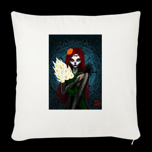 Death and lillies - Sofa pillowcase 17,3'' x 17,3'' (45 x 45 cm)