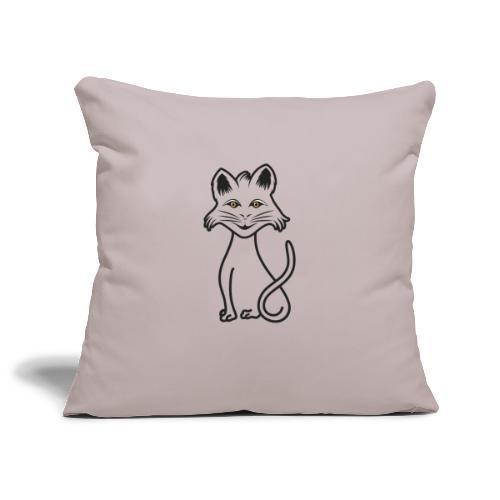 gatto nero - Copricuscino per divano, 45 x 45 cm