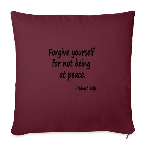 Forgive Yourself - Sofa pillowcase 17,3'' x 17,3'' (45 x 45 cm)