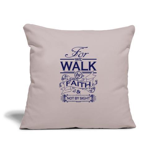 walk navy - Sofa pillowcase 17,3'' x 17,3'' (45 x 45 cm)