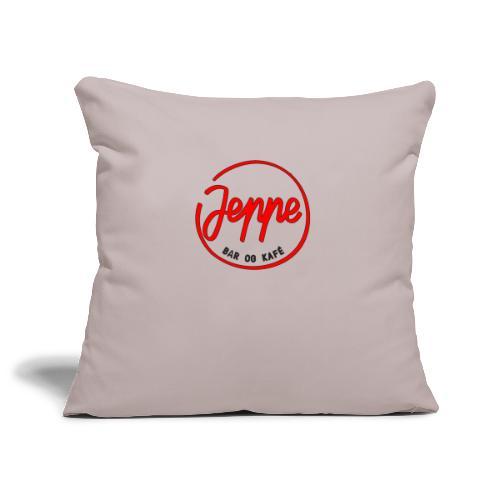 Jeppe rød logo - Sofaputetrekk 45 x 45 cm