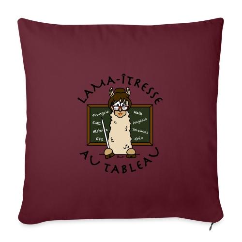 Lama-îtresse, tableau, maîtresse, cadeau, vacances - Housse de coussin décorative 45x 45cm
