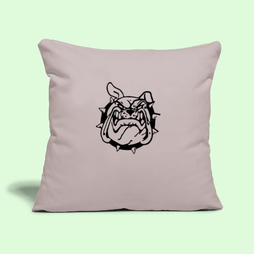 Bulldog souriant - Housse de coussin décorative 45x 45cm