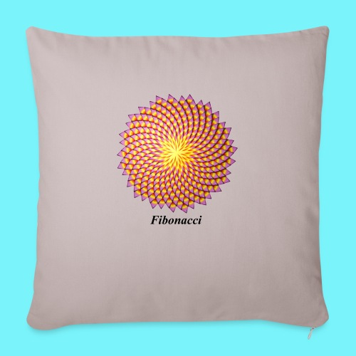 Fibonacci flower - Sofa pillowcase 17,3'' x 17,3'' (45 x 45 cm)