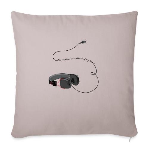 Tee shirt manches longues casque soundtrack - Housse de coussin décorative 45x 45cm