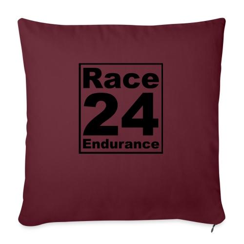 Race24 logo in black - Sofa pillowcase 17,3'' x 17,3'' (45 x 45 cm)