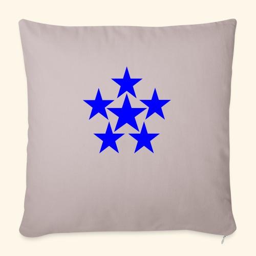 5 STAR blau - Sofakissenbezug 44 x 44 cm