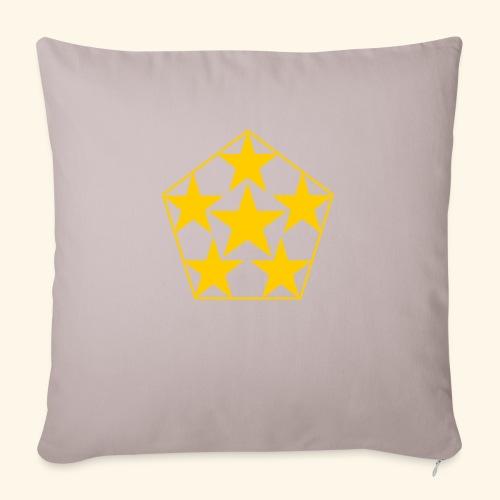 5 STAR gelb - Sofakissenbezug 44 x 44 cm