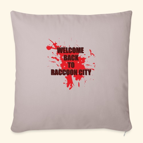 Welcome Back to Raccoon City TEXT 01 - Sofa pillowcase 17,3'' x 17,3'' (45 x 45 cm)
