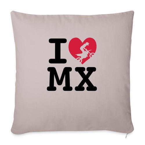 I love MX 2 - Housse de coussin décorative 45x 45cm