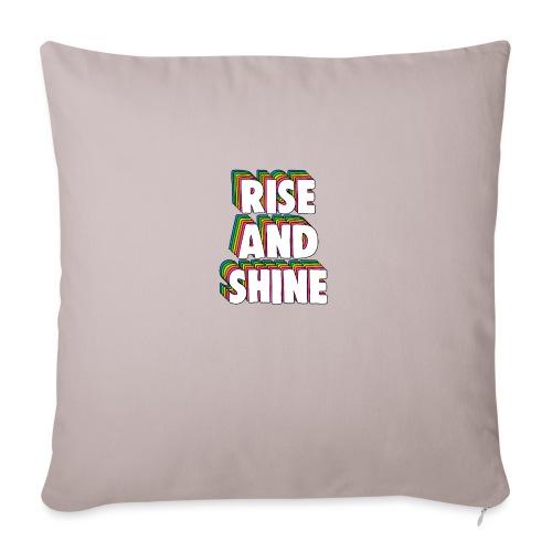 Rise and Shine Meme - Sofa pillowcase 17,3'' x 17,3'' (45 x 45 cm)