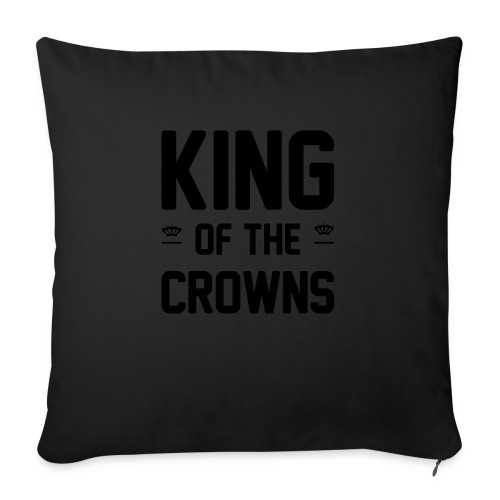 King of the crowns - Sierkussenhoes, 45 x 45 cm