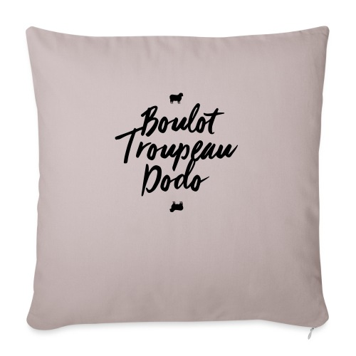 Boulot Troupeau Dodo - Housse de coussin décorative 45x 45cm