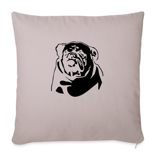 English Bulldog - negative - Sohvatyynyn päällinen 45 x 45 cm