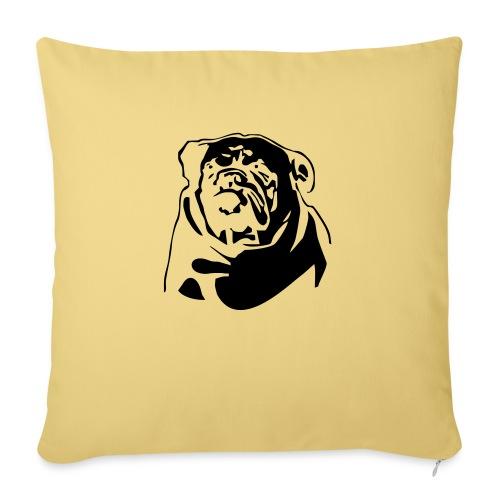 English Bulldog - negative - Sohvatyynyn päällinen 45 x 45 cm