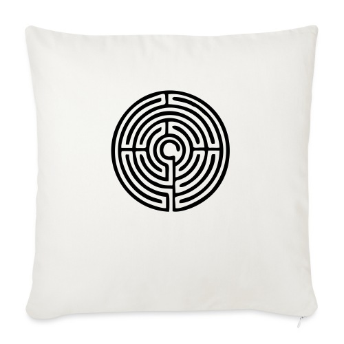 Labyrinth Schutzsymbol Lebensweg Magie Mystik - Sofakissenbezug 44 x 44 cm