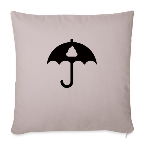 Shit icon Black png - Sofa pillowcase 17,3'' x 17,3'' (45 x 45 cm)