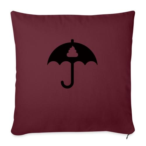 Shit icon Black png - Sofa pillowcase 17,3'' x 17,3'' (45 x 45 cm)