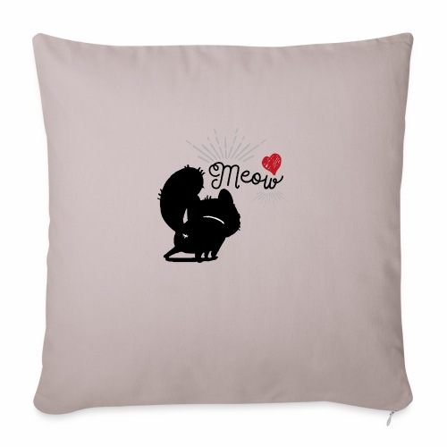 gatto meow - Copricuscino per divano, 45 x 45 cm