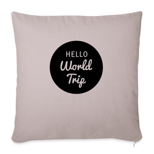 Hello World Trip - Sofakissenbezug 44 x 44 cm