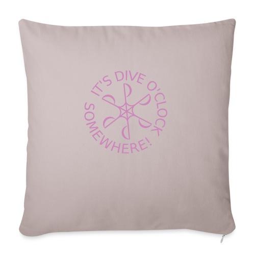 Dive o clock Pink - Sofa pillowcase 17,3'' x 17,3'' (45 x 45 cm)