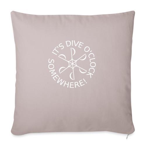 diveoclocklogowhite png - Sofa pillowcase 17,3'' x 17,3'' (45 x 45 cm)