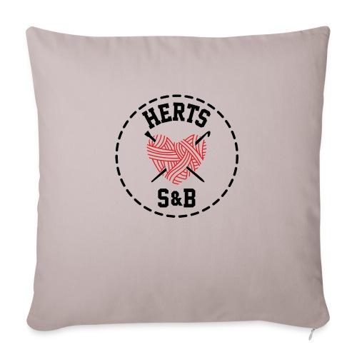 StitchAndBitchFrontLogo_B - Sofa pillowcase 17,3'' x 17,3'' (45 x 45 cm)