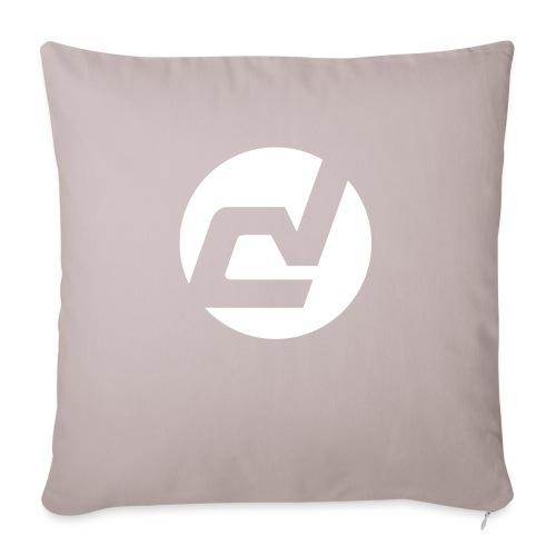 logo blanc - Housse de coussin décorative 45x 45cm