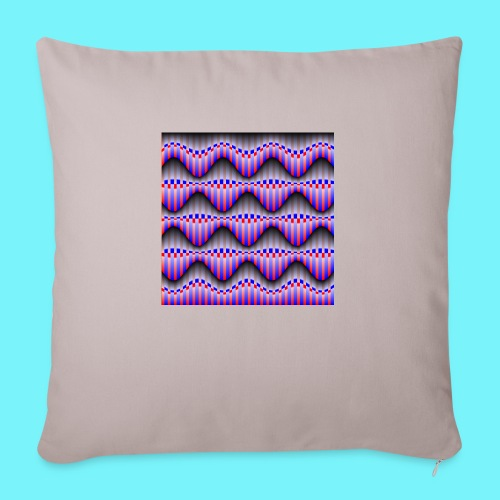 Sine waves in red and blue - Sofa pillowcase 17,3'' x 17,3'' (45 x 45 cm)