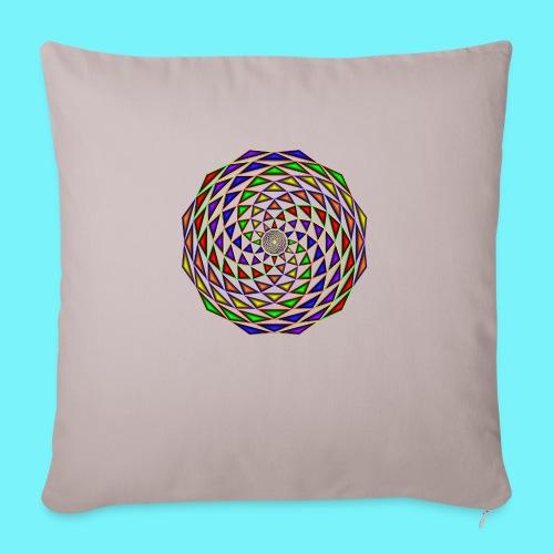 Mandala in rainbow colours - Sofa pillowcase 17,3'' x 17,3'' (45 x 45 cm)