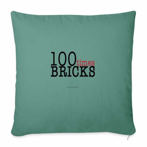 100times BRICKS - Copricuscino per divano, 45 x 45 cm