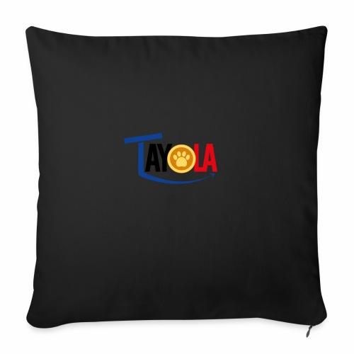 TAYOLA Nouveau logo!!! - Housse de coussin décorative 45x 45cm
