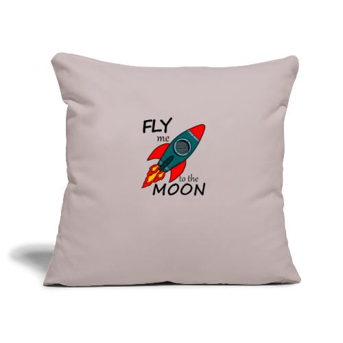 Fly me to the moon - Funda de cojín, 45 x 45 cm