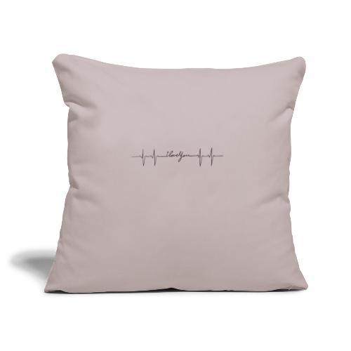 Ik hou van jou hartslag - Housse de coussin décorative 45x 45cm