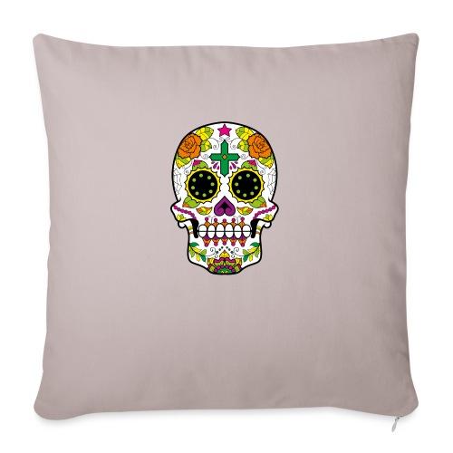 skull4 - Copricuscino per divano, 45 x 45 cm
