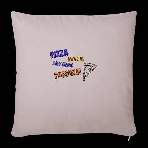 Pizza makes anything possible! - Colorful Design - Copricuscino per divano, 45 x 45 cm