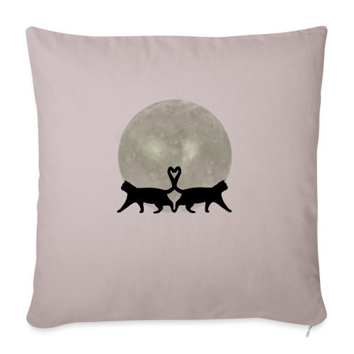 Cats in the moonlight - Sierkussenhoes, 45 x 45 cm