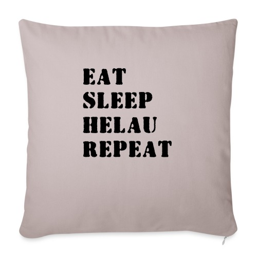 Eat Sleep Repeat - Helau VECTOR - Sofakissenbezug 44 x 44 cm