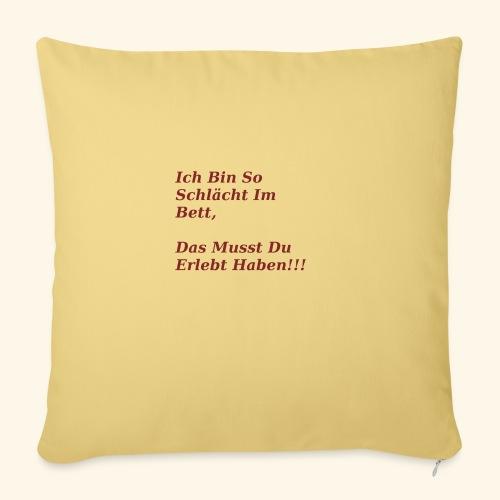 Ich bin schlaecht - Sofa pillowcase 17,3'' x 17,3'' (45 x 45 cm)