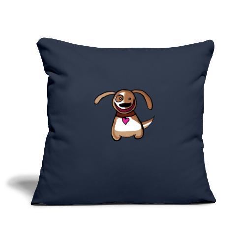 Titou le chien - Housse de coussin décorative 45x 45cm