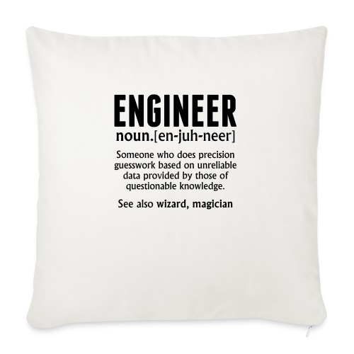 ENGINEER - Sofa pillowcase 17,3'' x 17,3'' (45 x 45 cm)