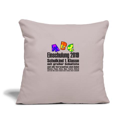 Einschulung Jahr 2019 - Sofakissenbezug 44 x 44 cm